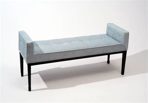 contemporary upholstered bench mid century modern upholstered bench 1950s at 1stdibs