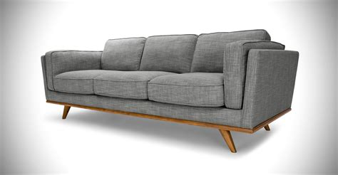 gray mid century modern sofa gray sofa 3 seater in honey oak wood article timber