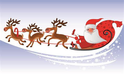 Free santa and reindeer clipart - Clipart Collection ... Free Clip Art Santa And Reindeer
