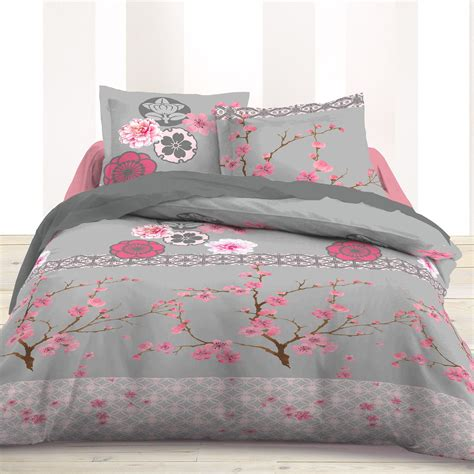 housses d oreillers parure de couette avec fleurs de cerisier fleurs