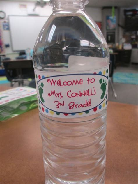 personalized water bottle label template personalized water bottle labels classroom setup and