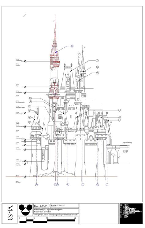 castle blueprint mundo disney imagineering renders y maquetas disney