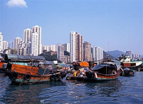 porto di hong kong porto di aberdeen hong kong fotografia editoriale