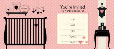 interesting polka dot pink colored baby shower invitation