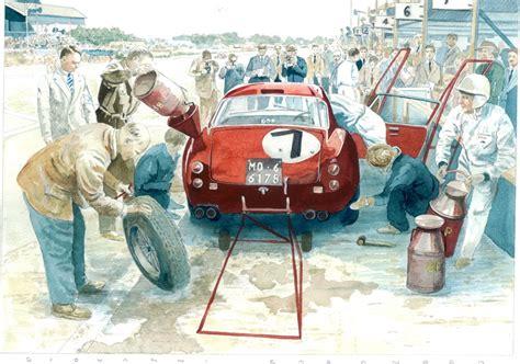 vintage ferrari art art classic cars artclassic cars art