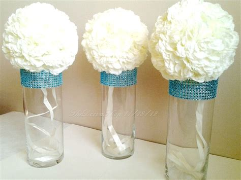Turquoise Vases For Wedding by Centerpiece Cylinder Vases Turquoise Teal Bling Rhinestone