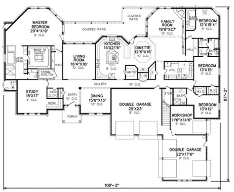 Traditional Style House Plan 4 Beds 3 50 Baths 4500 Sq 4500 Sq Ft House Plans