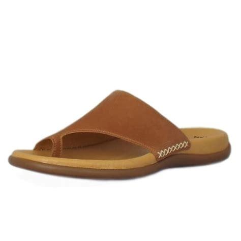comfortable mules gabor sandals lanzarote mules in cognac mozimo