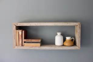 rustic wood box shelf by houseinhabit on etsy