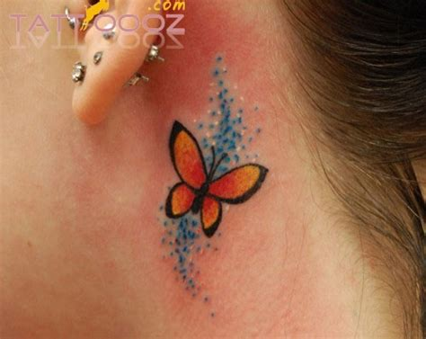 tattoo behind ear butterfly butterfly tattoo behind ear love