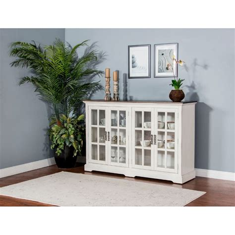 french country white  tone dining room sideboard