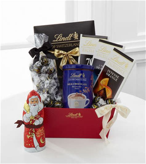 lindt holiday gift basket dark chocolate webgift