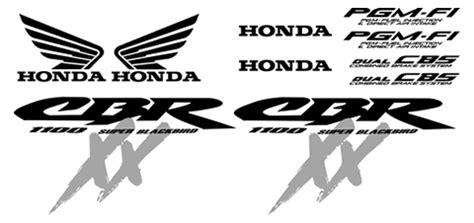 Honda Pan European Aufkleber by Honda Cbr 1100 Xx Blackbird 2004 Decal Set