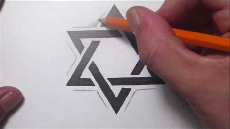star of david tattoo designs how to draw a of david design