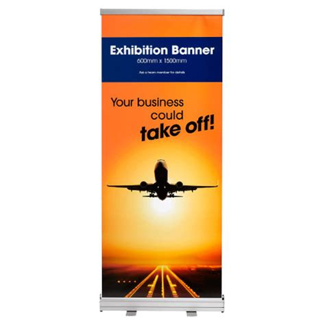 retractable exhibition banners officeworks