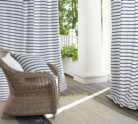 pottery barn striped curtains simple stripes for summer