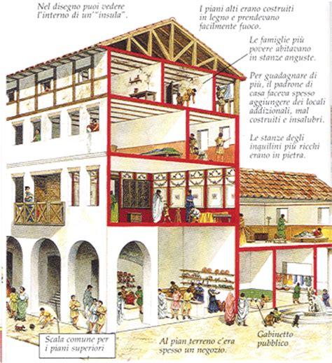 Roman Insula Floor Plan by Le Abitazioni Degli Antichi Romani