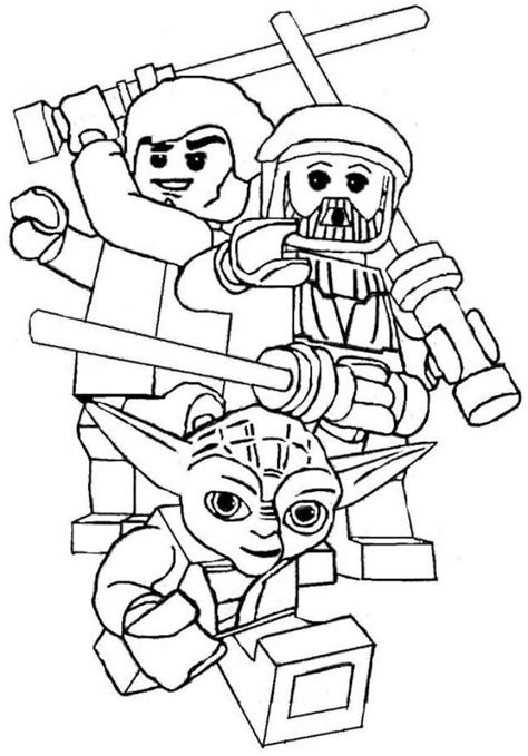 Lego Wars Coloring Pages Printable lego wars coloring pages to and print for free