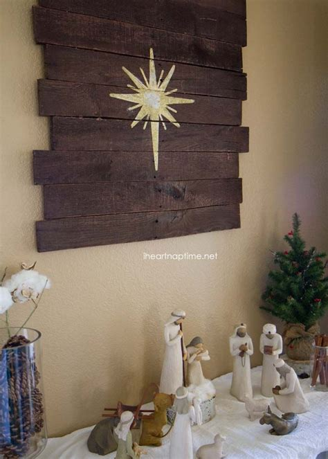 diy nativity display  pallet art tutorial christmas nativity willow tree  diy  crafts