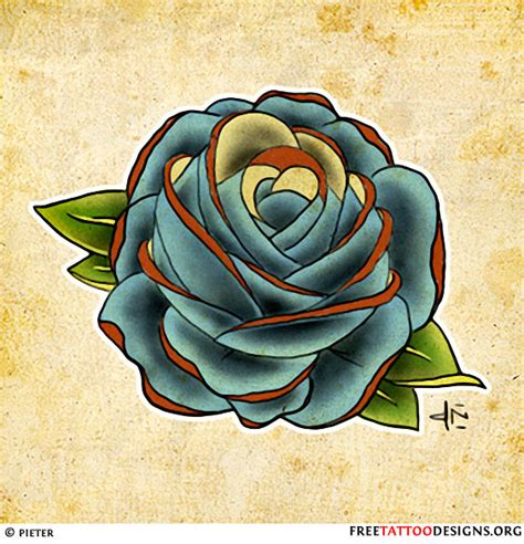 blue rose meaning in tattoos blue sketch for design