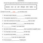 conjunctions worksheet 5th grade abitlikethis