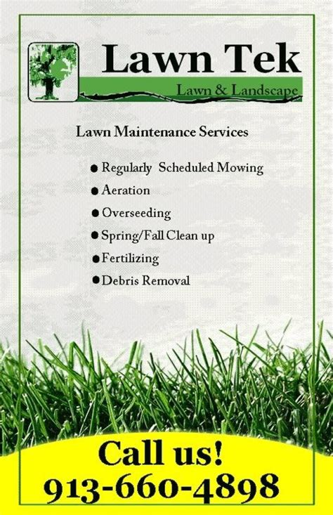 Lawn Care Flyer Template Free The Best Template Ideas Free Landscaping Flyer Templates
