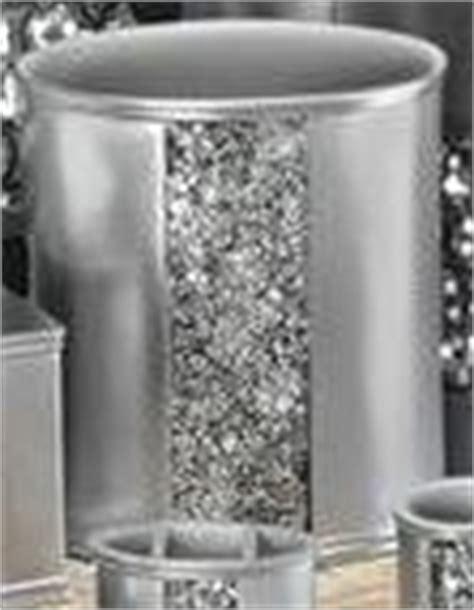 new sinatra silver bathroom resin waste basket bling chic