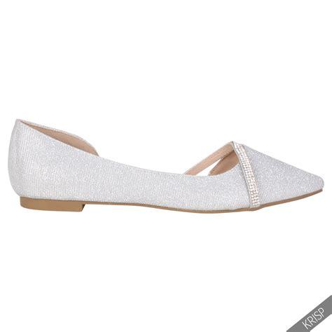 Flat Shoes Gliter Rf01 1 vintage pointed glitter bridal ballerina pumps cut out ballet flats ebay