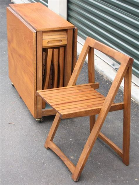 foldable table and chairs vintage teak foldable table and 4 folding chairs