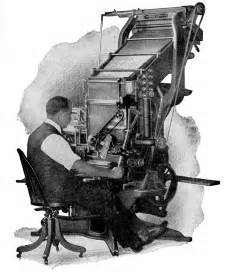 when was the linotype machine invented linotype machine 1886 megan pragel s portfolio