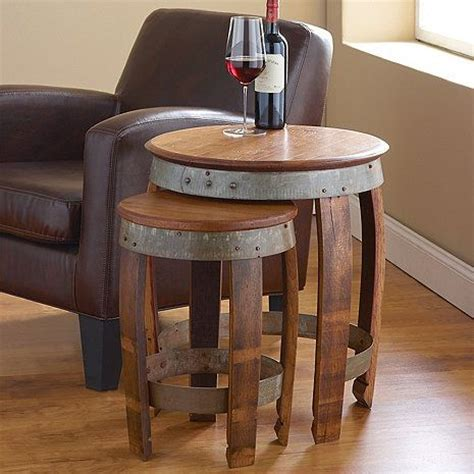 wine barrel end table 17 best ideas about wine barrel table on