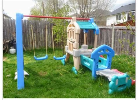 swing and slide set little tikes the spectacular attempt up cyling little tikes swingset