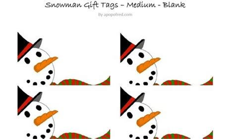 printable snowman tags snowman gift tags printable a pop of red