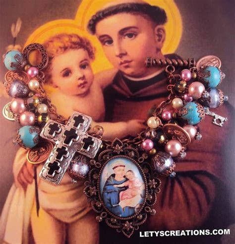 Handcrafted By St - handcrafted catholic anthony religious medals charm