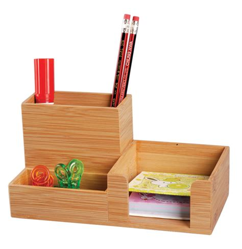 China Bamboo Desk Organizer Office Supply Pen Holder Office Desk Pen Holder
