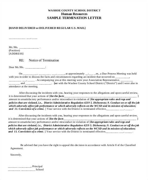 termination letter format in pdf sle termination letter template 33 free word pdf