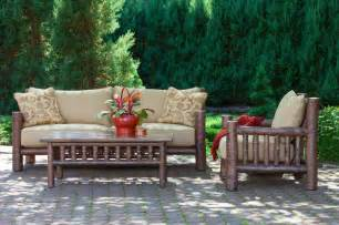 Rustic Outdoor Patio Furniture Rustic Sofa 1280 Rustic Club Chair 1276 Rustic Table 3466 La Lune Collection Rustic