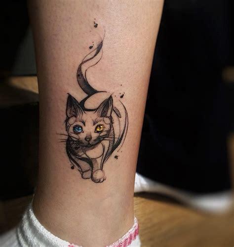 tato keren gambar kucing bergambar tato