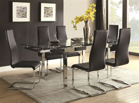 dream home interiors kennesaw coaster modern dining contemporary dining room set with