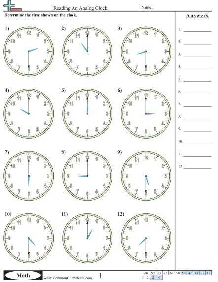 Time Worksheet by Time Worksheets