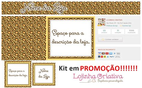 kit layout loja divitae 04 banner facebook loja de kit layout elo7 oncinha lojinha criativa promo 199 195 o elo7