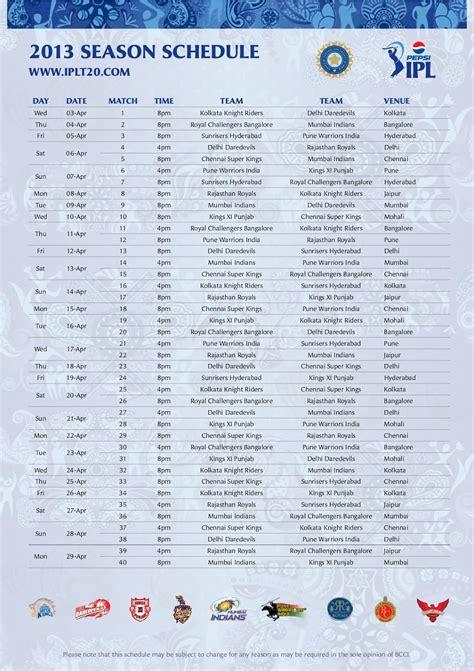 ipl matches list season 10 top newz ipl season 6 2013 schedule