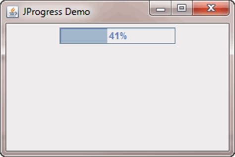 progress bar swing creating progress bar using jprogressbar class