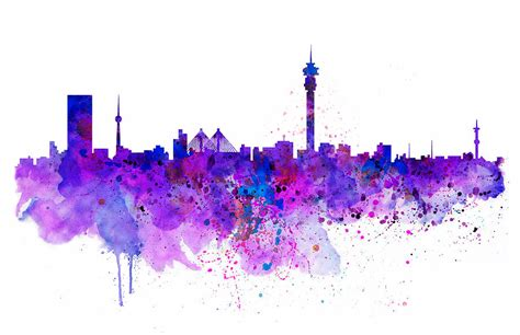 Home Decor Apps For Ipad Johannesburg Skyline Mixed Media By Marian Voicu