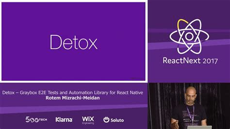 Testing React With Detox by Rotem Mizrachi Meidan Detox Graybox E2e Tests Library