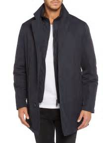 Bugatti Coats Bugatti Inside Zip And Collar Coat In Blue For Lyst
