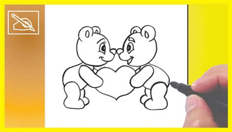 imagenes de winnie pooh faciles para dibujar c 243 mo dibujar ositos enamorados how to draw little bears