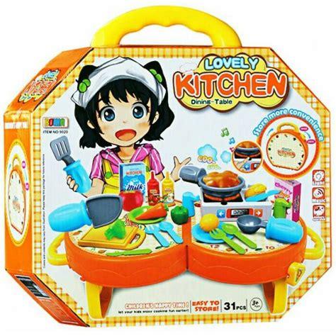 Terlarissss Mainan Anak My Lovely Kitchen jual mainan anak lovely kitchen dining table set masak