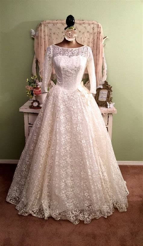 Vintage 50 S Wedding Dresses by Dress Vintage 50s Lace Wedding Dress 2612524 Weddbook