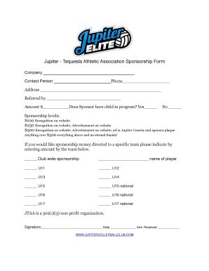 Softball Sponsorship Letter 10 Features Of Softball Softball Sponsorship Form Template